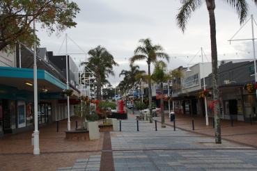 Straße in Tauranga Downtown